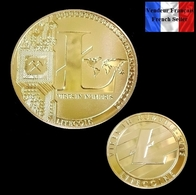 1 Pièce Plaquée OR ( GOLD Plated Coin ) - Litecoin LTC ( Ref 4 ) - Other Coins