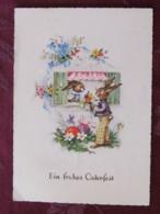 """Germany 1963 Postcard """" Easter - Rabbit - Eggs """" Solingen To Solingen - Luther - Briefe U. Dokumente"""