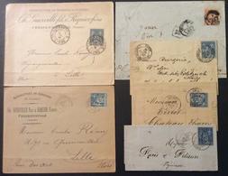 42 Somme Chargement Amiens Recommandé Fressenville Chaulnes-Picardie Amiens Sage 40c 15 C - Postmark Collection (Covers)