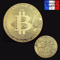 1 Pièce Plaquée OR ( GOLD Plated Coin ) - Bitcoin BTC - Other Coins