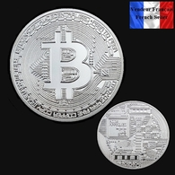 1 Pièce Plaquée ARGENT ( SILVER Plated Coin ) - Bitcoin BTC - Other Coins