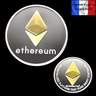 Pièce Plaquée OR Et ARGENT ( GOLD And SILVER Plated Coin ) - Ethereum ETH - Other Coins