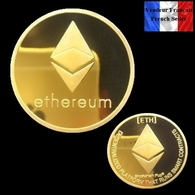 1 Pièce Plaquée OR ( GOLD Plated Coin ) - Ethereum ETH ( Ref 1 ) - Coins