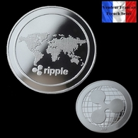1 Pièce Plaquée ARGENT ( SILVER Plated Coin ) - Ripple XRP - Other Coins