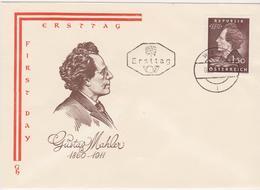 FDC 1960 - Mi 1078 (1) : 100. Geburtstag Von Gustav Mahler , ST Wien 9 - 1945-.... 2. Republik