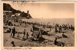 51gr 828 CPA - HONFLEUR - LA PLAGE - Honfleur