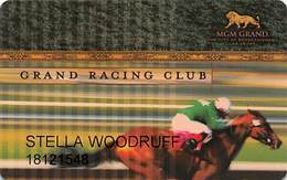 MGM Grand Casino - Las Vegas, NV - Grand Racing Club / Slot Card - Casino Cards