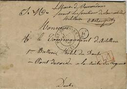 """23-12-70 -lettre En S M """" Le Maire De Remondan Faisant Fonction De Sous Intendant Militaire """" Cad De Pont-de-Roide - Marcophilie (Lettres)"""