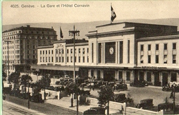 Genève . Gare Et L'hôtel Cornavin - GE Genève