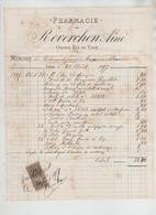 Pharmacie Reverchon Grande Rue De Vaise Mémoire Franc 1897 - Non Classificati
