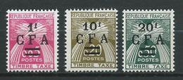 REUNION 1962/64 . Taxes N°s 45 , 46 Et 47 . Neufs ** (MNH) - Reunion Island (1852-1975)