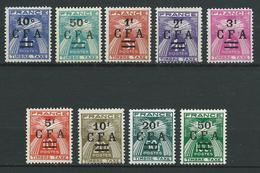 REUNION 1949/50 . Taxes. Série N°s 36 à 44 .  Neufs ** (MNH) - Reunion Island (1852-1975)