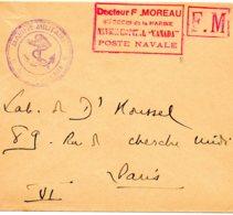 "FRANCE.F.M.RARE CACHET ""NAVIRE-HOPITAL CANADA"" - Santé"