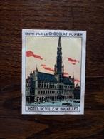 L20/87 Chromo Image Chocolat Pupier. Belgique. Hotel De Ville De Bruxelles - Altri