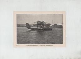 Hydravion Amérissant à L'aéroport De Marignane 1931 - Vieux Papiers