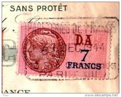 FISCAUX Sur Documents  SFU 212     Sur Lettre De Change   Papeteries De France - Fiscaux