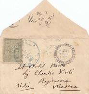 Türkei: 1896: Brief Nach Italien/Modena - Turkey