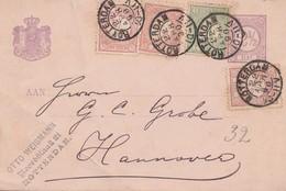 Niederlande: 1890: Rotterdam Nach Hannover - Niederlande