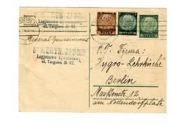 Ganzsache GG P 1 I:  4.1.1940 Warschau/Legionowo Nach Berlin - Besetzungen 1938-45