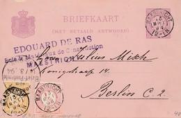 Niederlande: 1894: Maastricht Nach Berlin - Ganzsache - Niederlande
