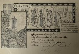 Suisse (NE) Colombier Litho Karte 1902 - NE Neuchatel