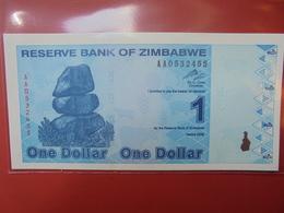 ZIMBABWE 1$ 2009 PEU CIRCULER/NEUF - Zimbabwe