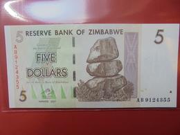 ZIMBABWE 5$ 2007 PEU CIRCULER/NEUF - Zimbabwe