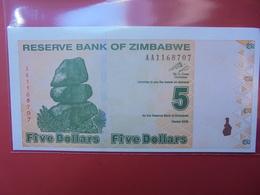 ZIMBABWE 5$ 2009 PEU CIRCULER/NEUF - Zimbabwe