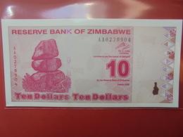 ZIMBABWE 10$ 2009 PEU CIRCULER/NEUF - Zimbabwe