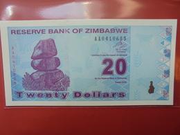 ZIMBABWE 20$ 2009 PEU CIRCULER/NEUF - Zimbabwe