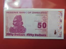 ZIMBABWE 50$ 2009 PEU CIRCULER/NEUF - Zimbabwe