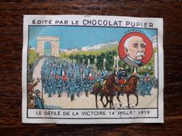 L20/95 Chromo Image Chocolat Pupier. France. Le Défilé De La Victoire . 14 Juillet 1919 - Altri