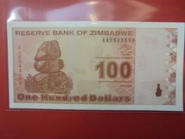 ZIMBABWE 100$ 2009 PEU CIRCULER/NEUF - Zimbabwe