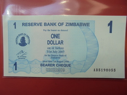 ZIMBABWE 1$ 2006 (BEARER CHEQUE) PEU CIRCULER/NEUF - Zimbabwe