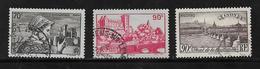 France Timbres De 1939 N°448 A 450 Oblitérés - Used Stamps