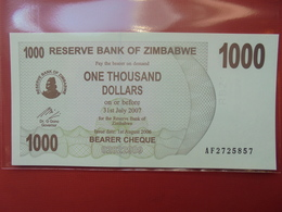 ZIMBABWE 1000$ 2006 (BEARER CHEQUE) PEU CIRCULER/NEUF - Zimbabwe