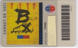 CARNET DE SOCIO DE FUTBOL CLUB BARCELONA AÑO 1999 ANUAL (FOOTBALL) BARÇA (LA CAIXA) TAPIES - Tarjetas