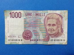 ITALIA BANCONOTA CIRCOLATA 1000 LIRE MONTESSORI CF - [ 2] 1946-… : République