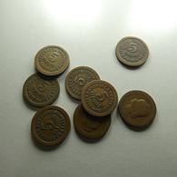 Portugal 8 Coins 5 Centavos 1924/27 - Kilowaar - Munten