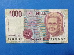 ITALIA BANCONOTA CIRCOLATA 1000 LIRE MONTESSORI SG - [ 2] 1946-… : République