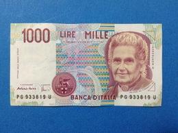 ITALIA BANCONOTA POCO CIRCOLATA 1000 LIRE MONTESSORI PG - [ 2] 1946-… : République