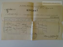 ZA146.26 Hungary Old Document -  Kolozsvár SZUCSÁG  - Csiszér Anna 1942 - Naissance & Baptême