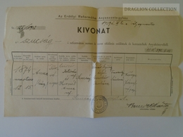 ZA146.26 Hungary Old Document -  Kolozsvár SZUCSÁG  - Csiszér Anna 1942 - Birth & Baptism