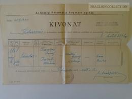 ZA146.27 Hungary Old Document -  Kolozsvár   - Farkas Sándor 1944 - Birth & Baptism