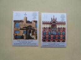 1990  Grande Bretagne Yv 1457/8  ** MNH Glasgow Cote 3.50 € Michel 1263/4 Scott 1316/7 SG 1495/6 - 1952-.... (Elizabeth II)