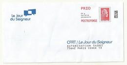 POSTREPONSE PRIO  CFRT/LE JOUR DU SEIGNEUR  MARIANNE L'ENGAGEE - 2018-... Marianne L'Engagée