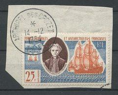 TAAF 1959 N° 18 Oblitéré Used TTB C 30 € Bateaux Voilier Yves-Joseph De Kerguelen Trémarec Sailboat - Terres Australes Et Antarctiques Françaises (TAAF)