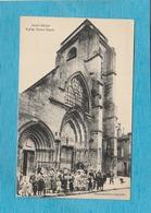 Saint-Dizier. - Église Notre-Dame. - ( Enfants Devant L'Église ). - Saint Dizier