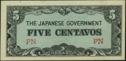 PHILIPPINES - 5 Centavos Nd.(1942) {Japanese Occupation WWII} {two Block Letters} AUa P.103 A - Philippines