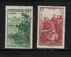 France Timbres De 1941 N°474 Et 475 Oblitérés - Oblitérés